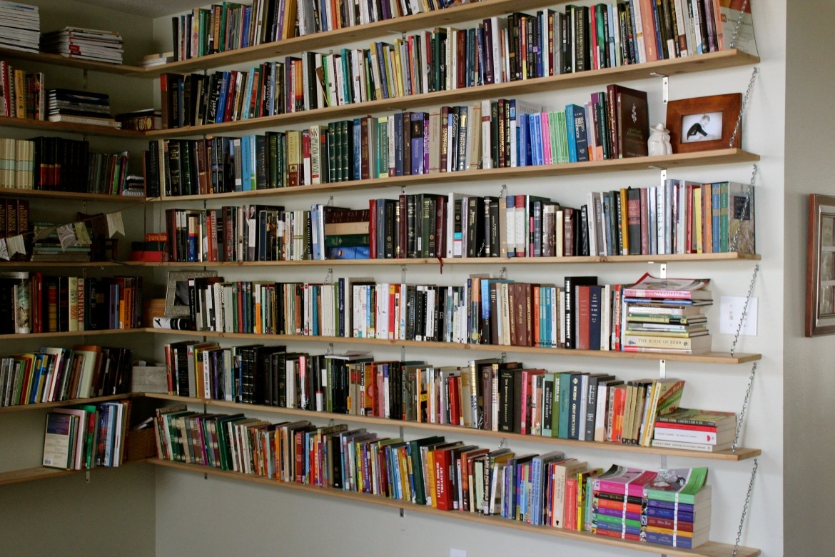 Bookshelves On Wall 15 Best Collection Of Library Wall Bookshelves