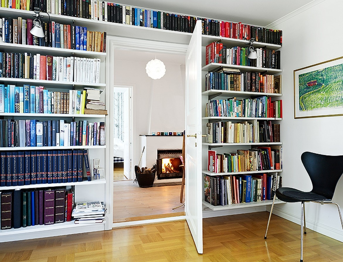 Bookshelves On Wall 15 Inspirations Of Full Wall Bookcases