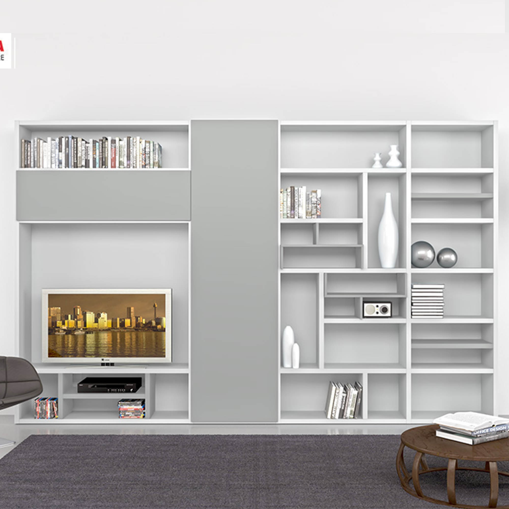 Contemporary Tv Wall Unit Designs 15 Collection Of Bookcase With Tv Unit