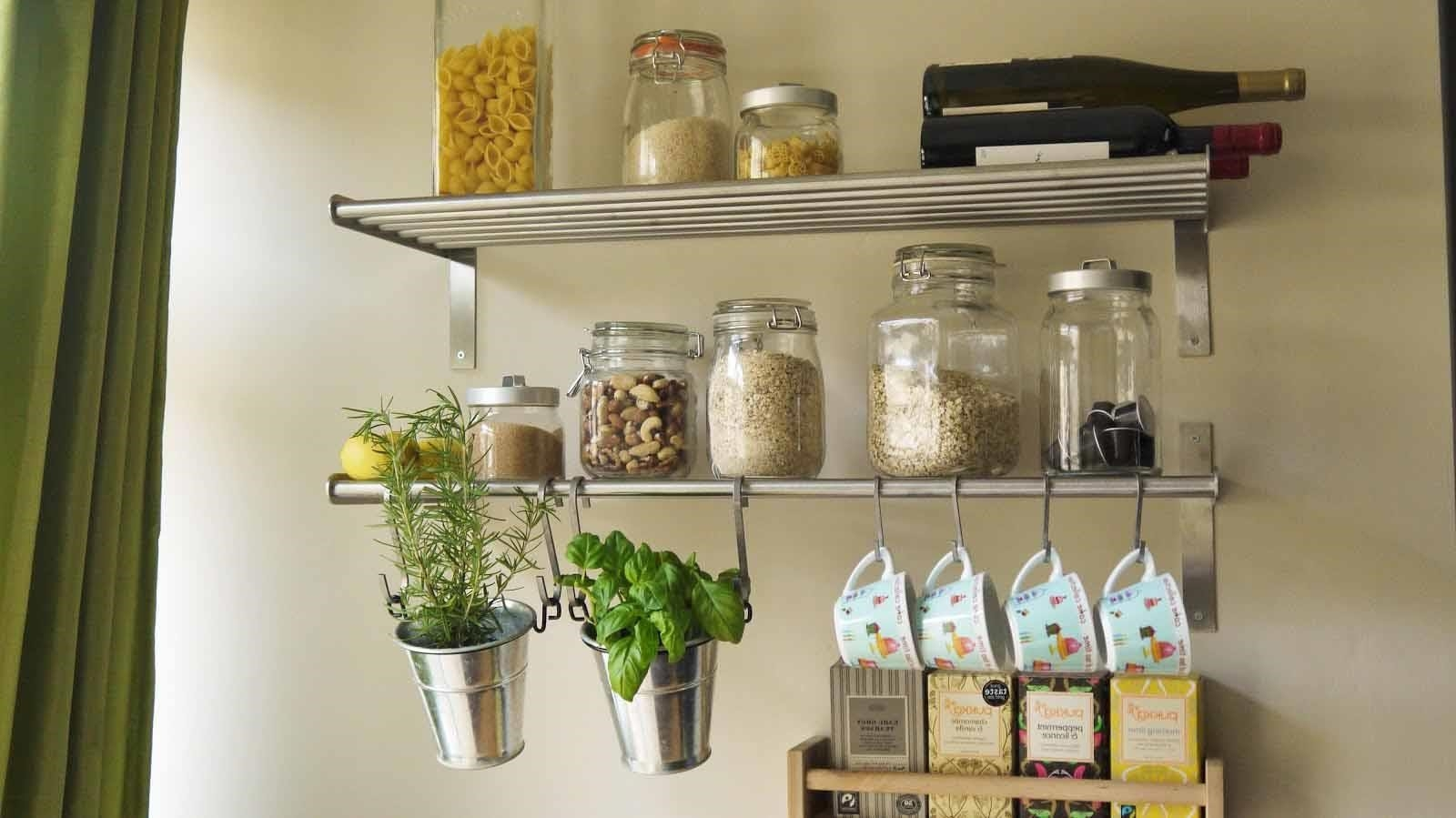 Ideas For Kitchen Shelves 12 Best Collection Of Kitchen Wall Shelves