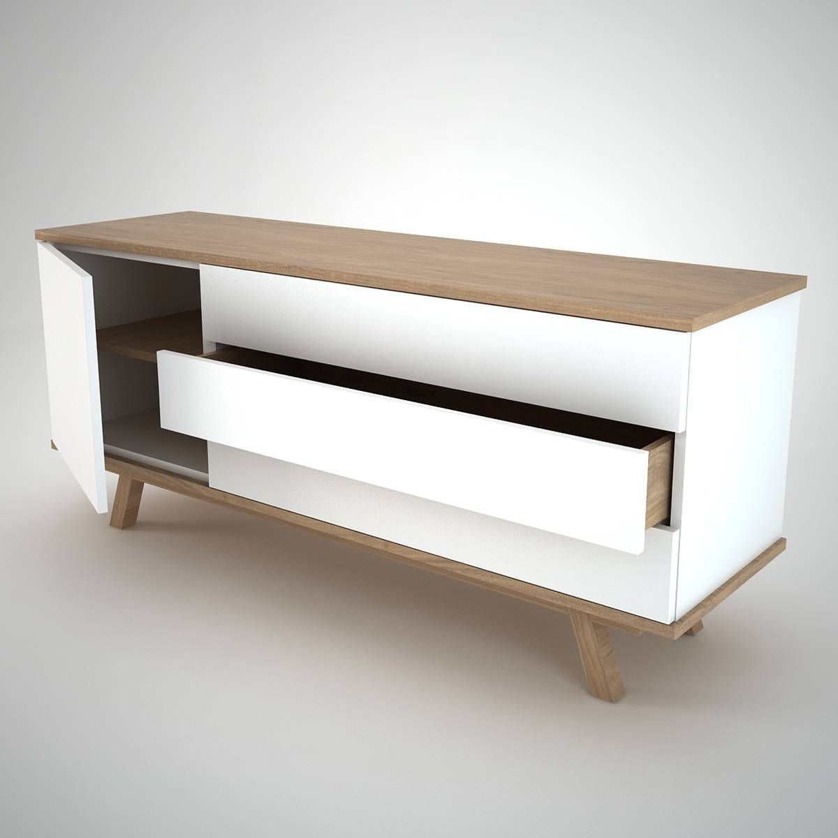 Sideboard Modern Design 20 Inspirations Of White And Wood Sideboard