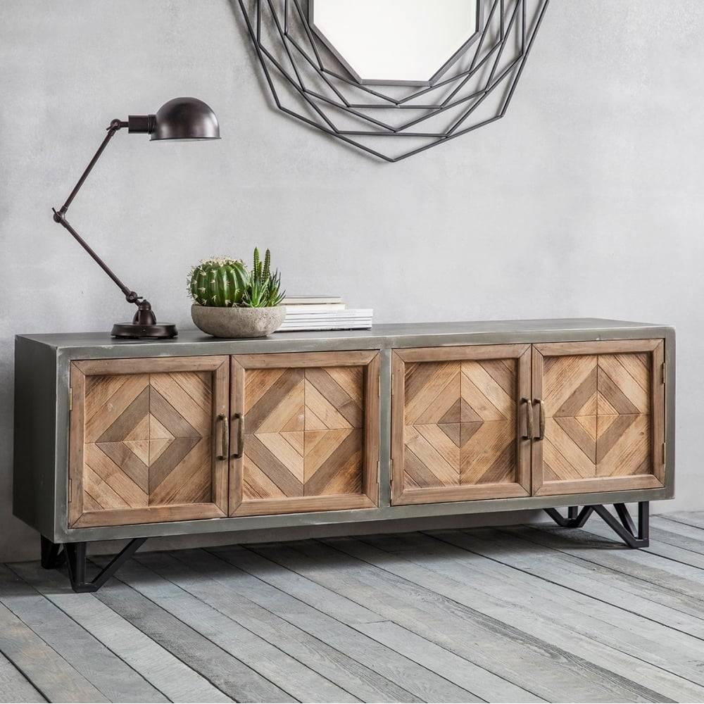 15 Photo Of Metal Sideboard Furniture - Sideboard Industrial Metall