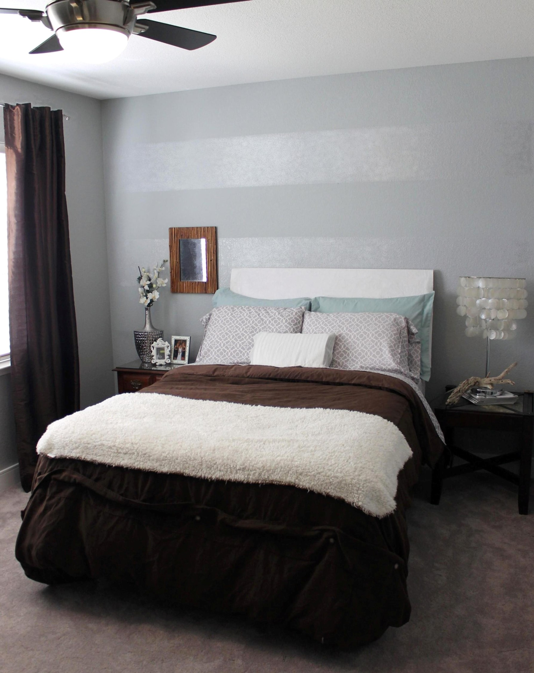 Tone on Tone Striped Accent Wall