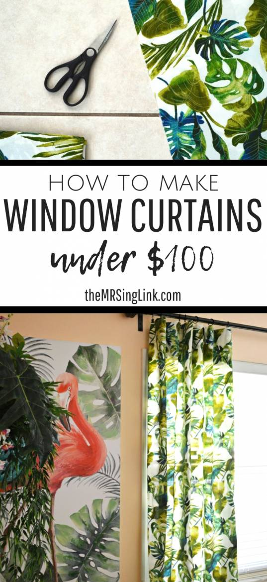Make Curtains How To Make Window Curtains For Under 100 No Sew Option