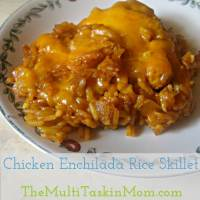 Chicken Enchilada Rice Skillet