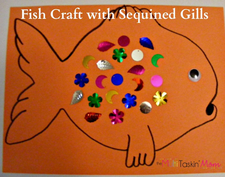 Sequinned fish craft