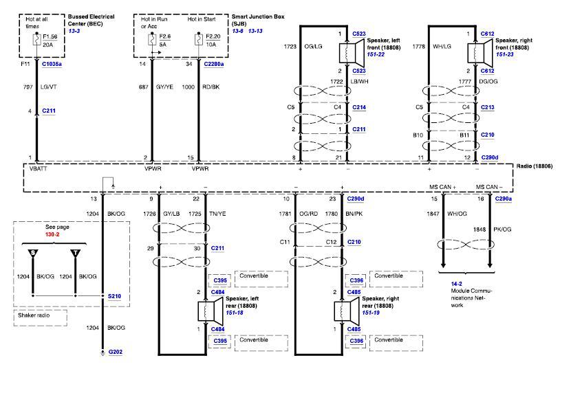 2005 Mustang Gt Shaker 500 Wiring Diagram - Wiring Solutions