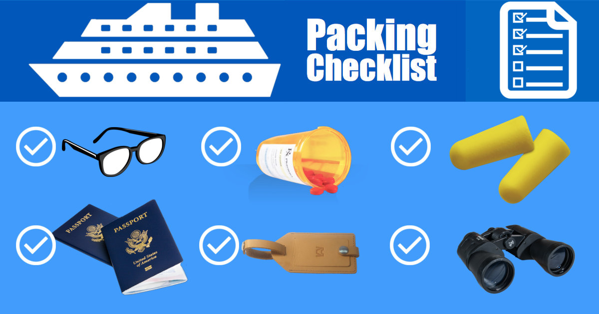 Cruise Packing List PDF \u2013 Free Printable Download! The Muster Station