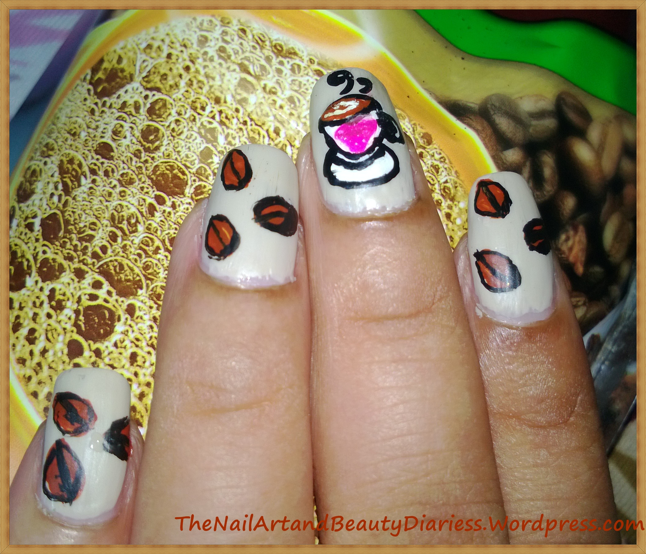 Coffee Art Nails I Love Coffee Nail Art The Nail Art And Beauty Diaries