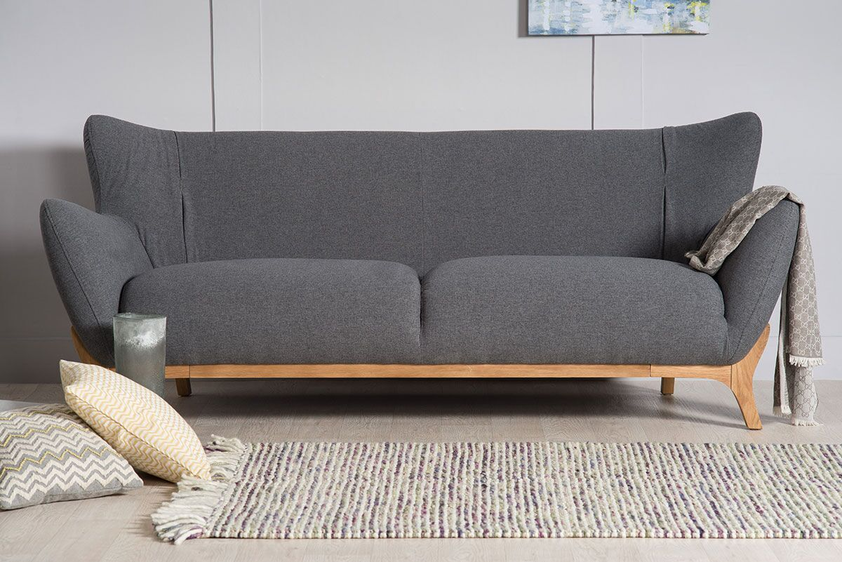 3 Sofas Wesley Contemporary 3 Seater Sofa The Natural Furniture