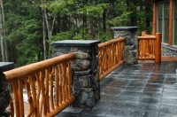 Railing systems and stairs | The Natural - Log Homes