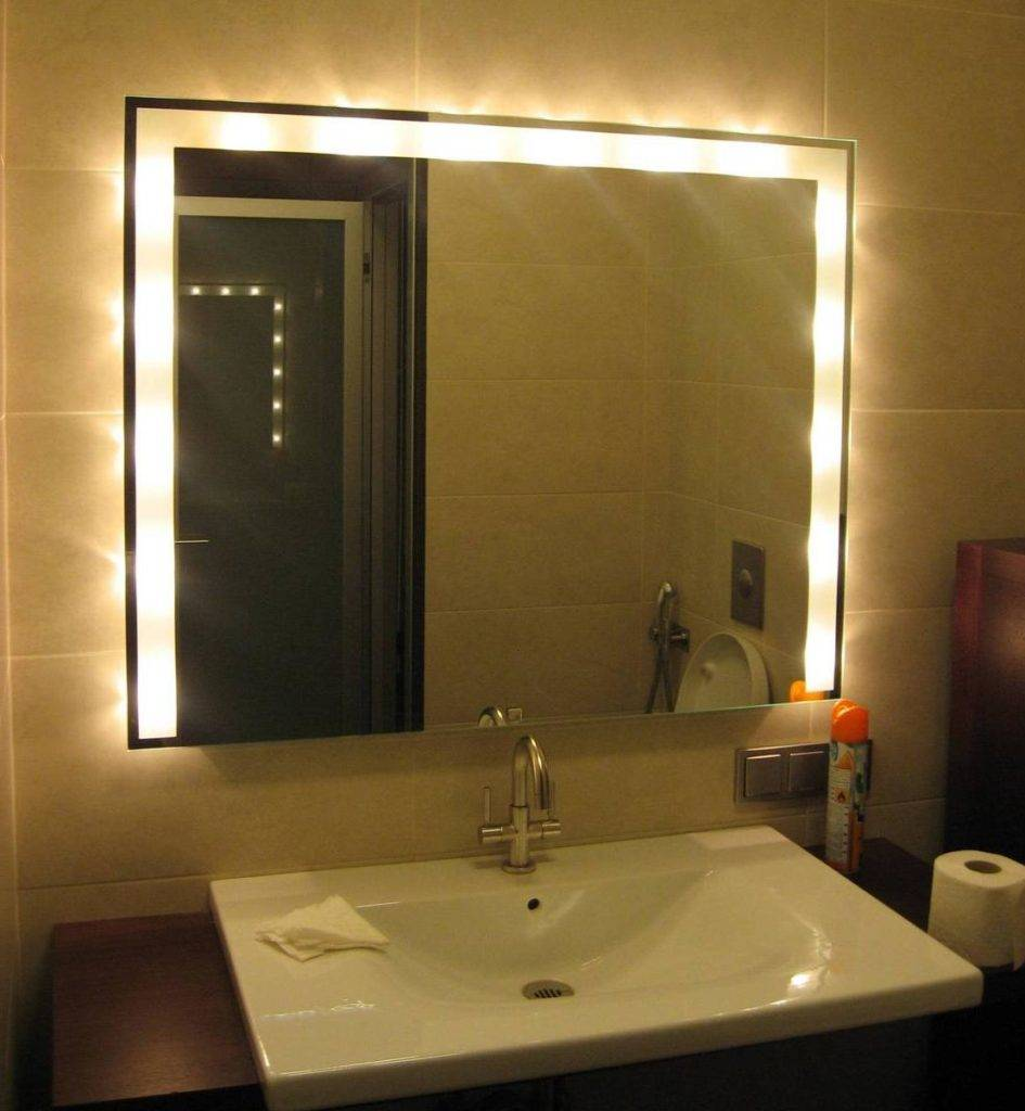 Best Bathroom Lighting For Makeup Behind Mirror Lighting Home Design Ideas