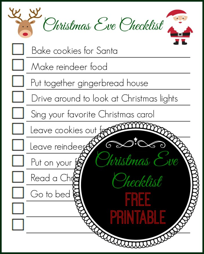Christmas eve checklist free printable the naughty mommy for Building your own home checklist