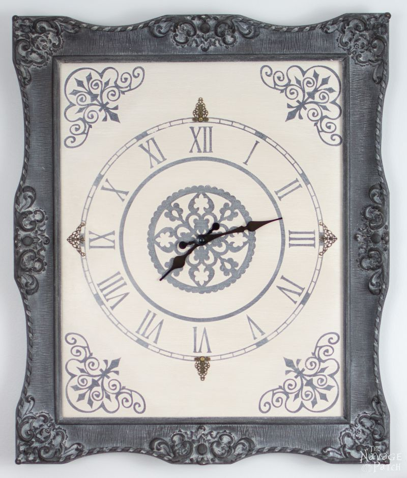 DIY Ornate Frame with clock