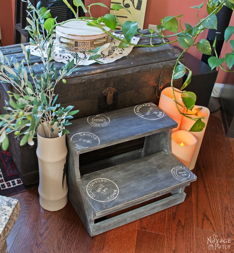Step Stool Makeover - TheNavagePatch.com