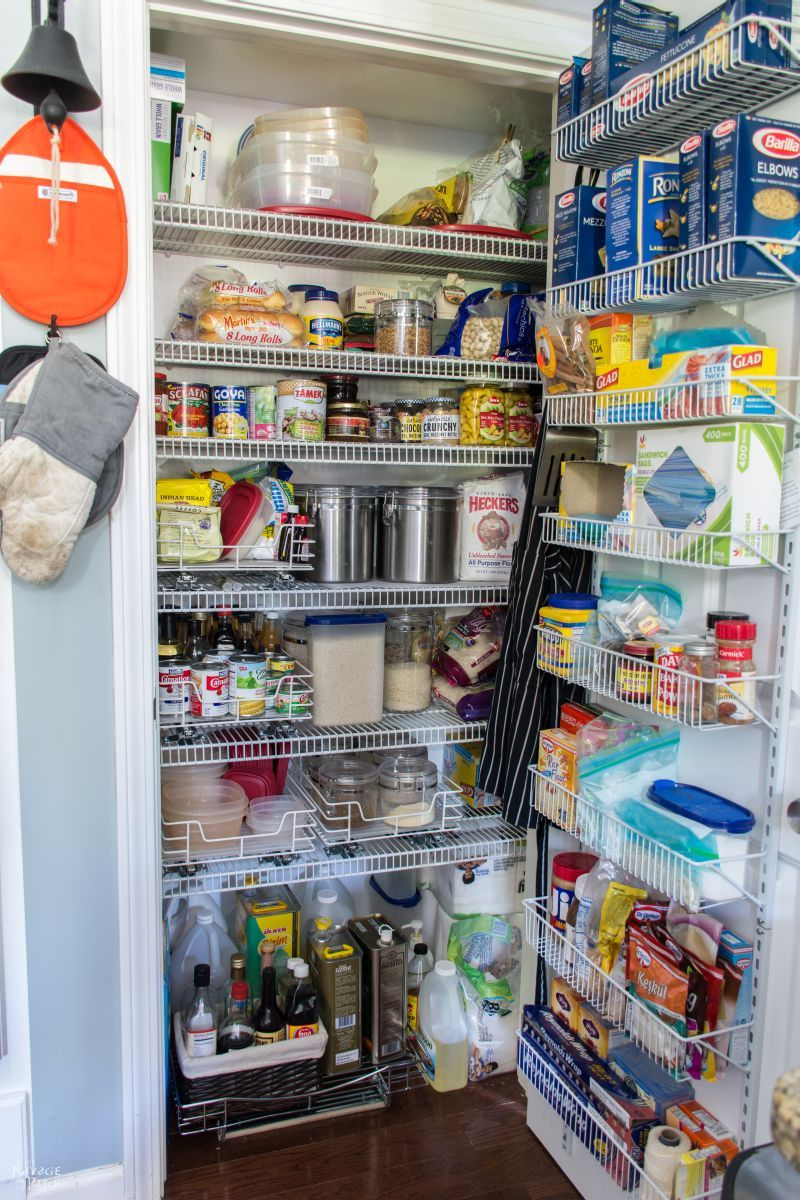 Pantry Shelves Pantry Makeover And Organization Ideas The Navage Patch