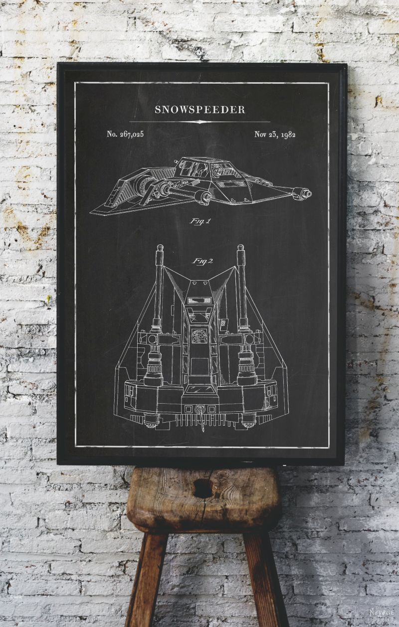 Vintage Architectural Blueprints Free Printable Star Wars Blueprints The Navage Patch