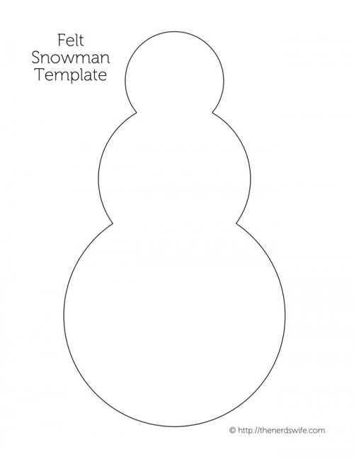 Build a Snowman Felt Quiet Activity - snowman template