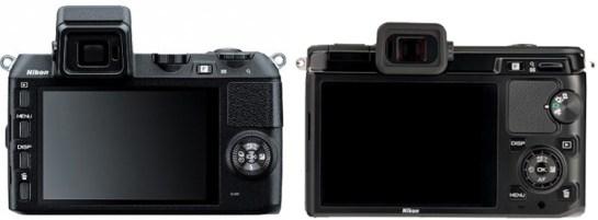 Nikon V2 vs Nikon V1 Back