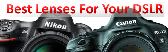 best lenses for your DSLR
