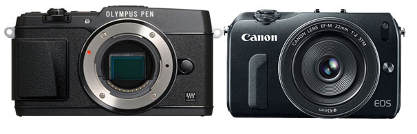 Olympus E-P5 vs Canon EOS M