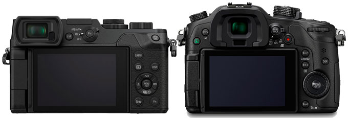 Panasonic Lumix DMC-GX8 vs. Panasonic GH4 2