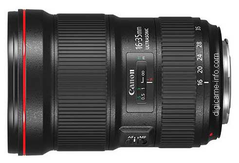 Canon 16-35mm lens image