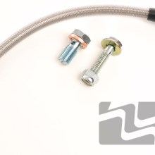 MM Stainless Brake Hose Kit, 1986-95 5.0 Mustang, rear