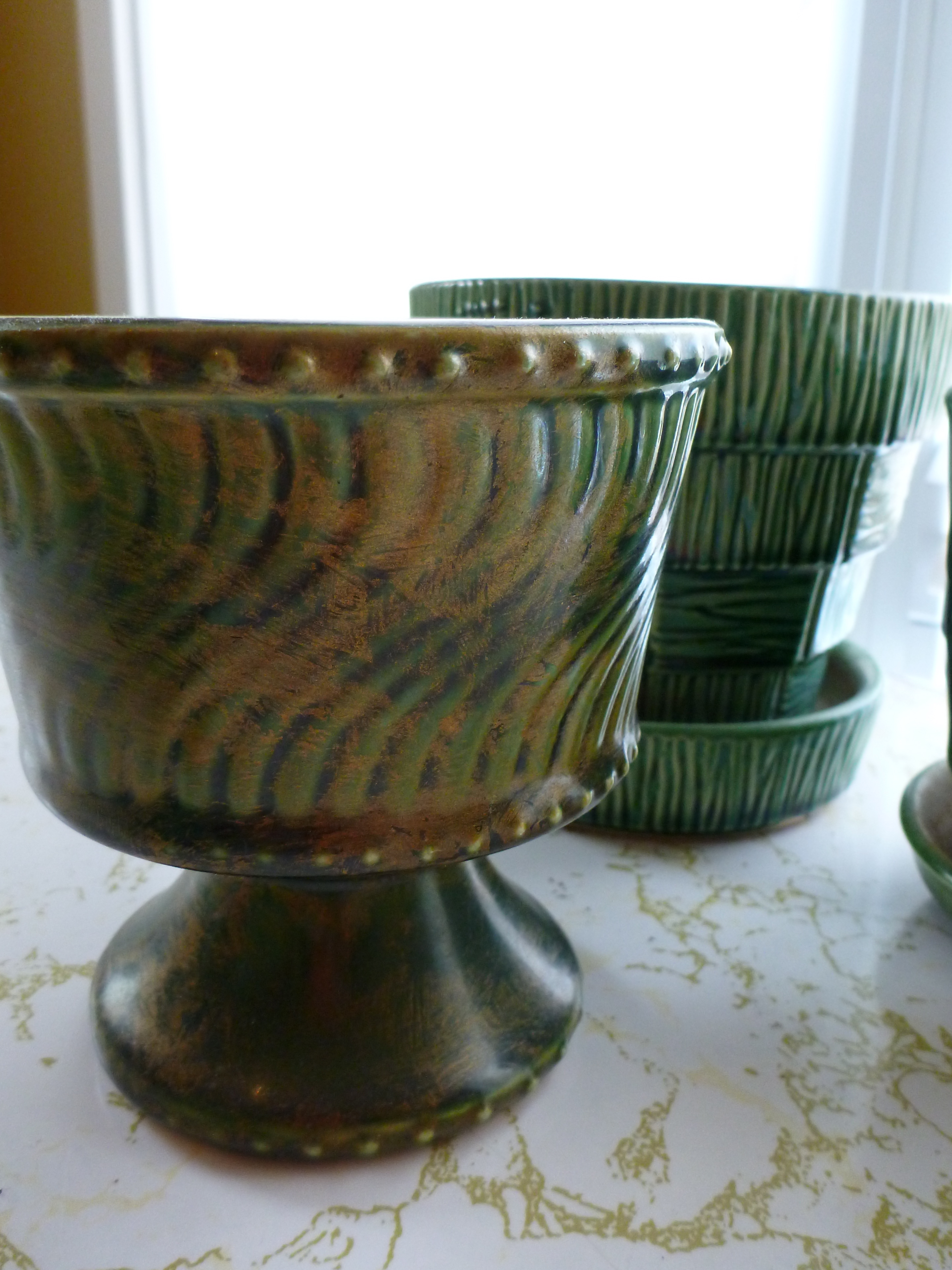 Green Planter Vintage Mccoy Pottery Green Planters The New Collector