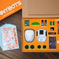 Package Open on Wood Cannybot Robotic toy car