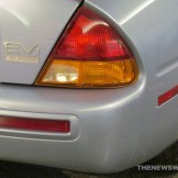 GM EV1 Electric Car at Smithsonian rear bumper