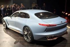 Genesis New York Concept Debut hybrid sports sedan exterior