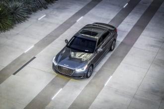2017 Genesis G90 model overview grey exterior sunroof