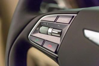 2017 Genesis G90 model overview steering wheel controls Bluetooth