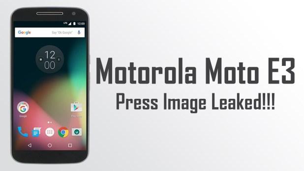 More Details on Moto E3 Revealed