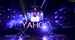 Yahoo logo on stage