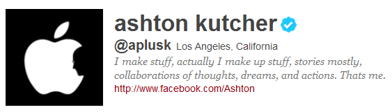 Ashton 12 Funny And Witty Celebrity Twitter Bios