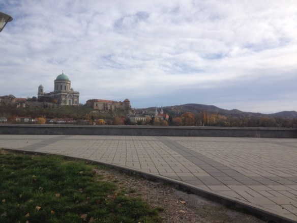 The Basilica at Esztergom, viewed from the Slovakian side of the Danube.