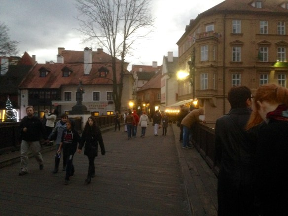 A bridge over Krumlov waters.