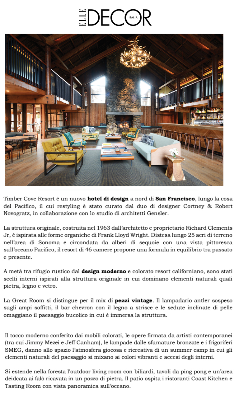 Elle Decor Italia Elle Decor Italia Timber Cove