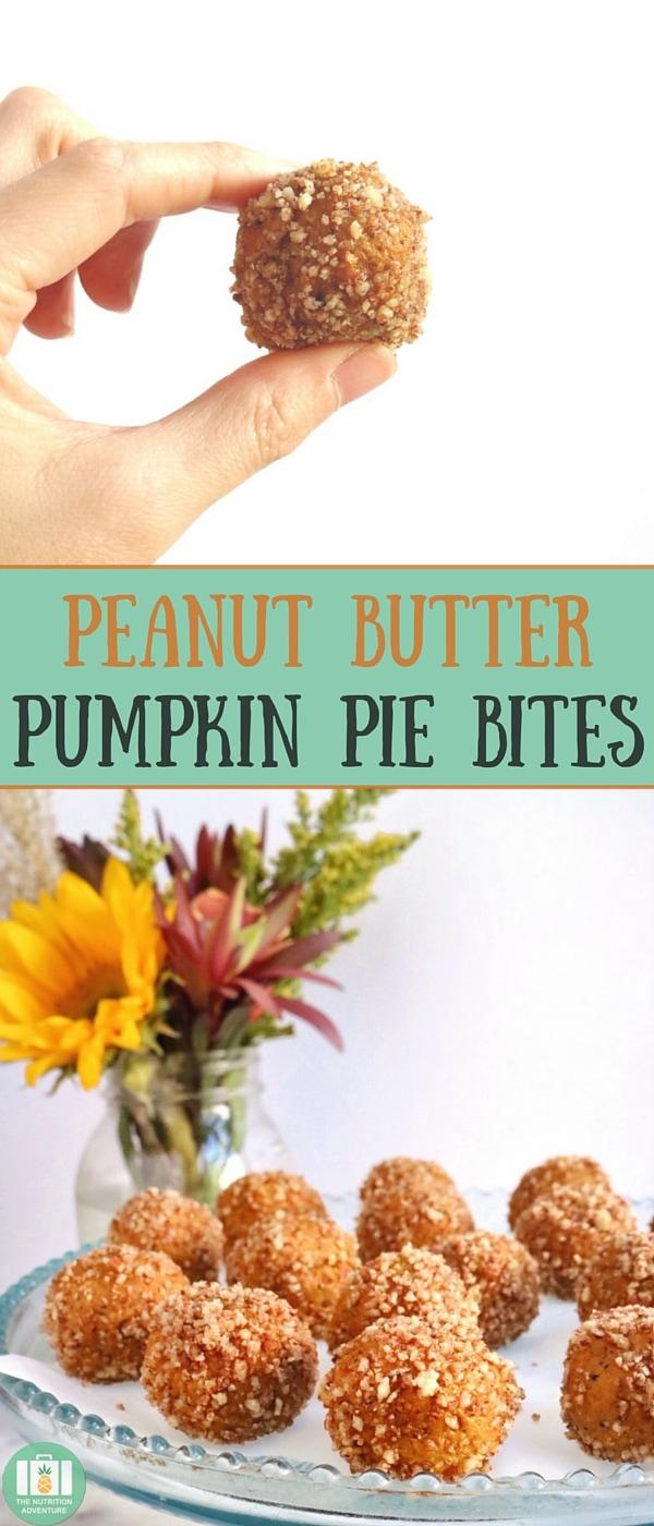 Peanut Butter Pumpkin Pie Bites