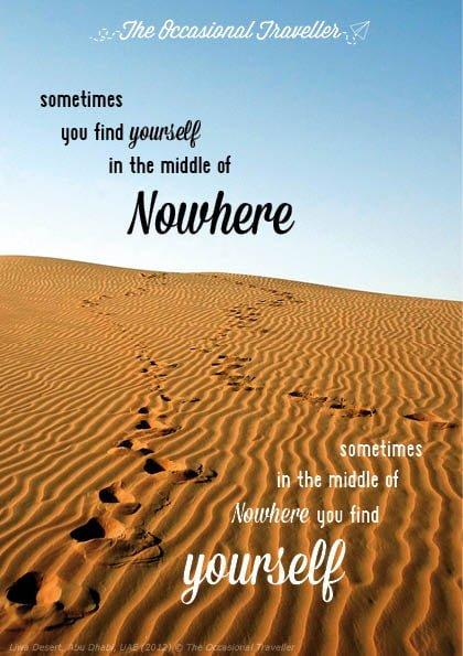 TOT Postcard - Yourself Nowhere