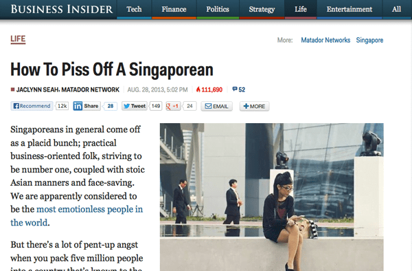 How To Piss Off A Singaporean - Business Insider