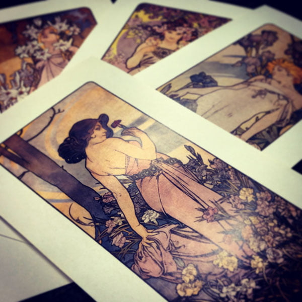 Prague Mucha postcards