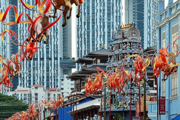 Chinese New Year decor in Chinatown 2014 - Year of the Horse