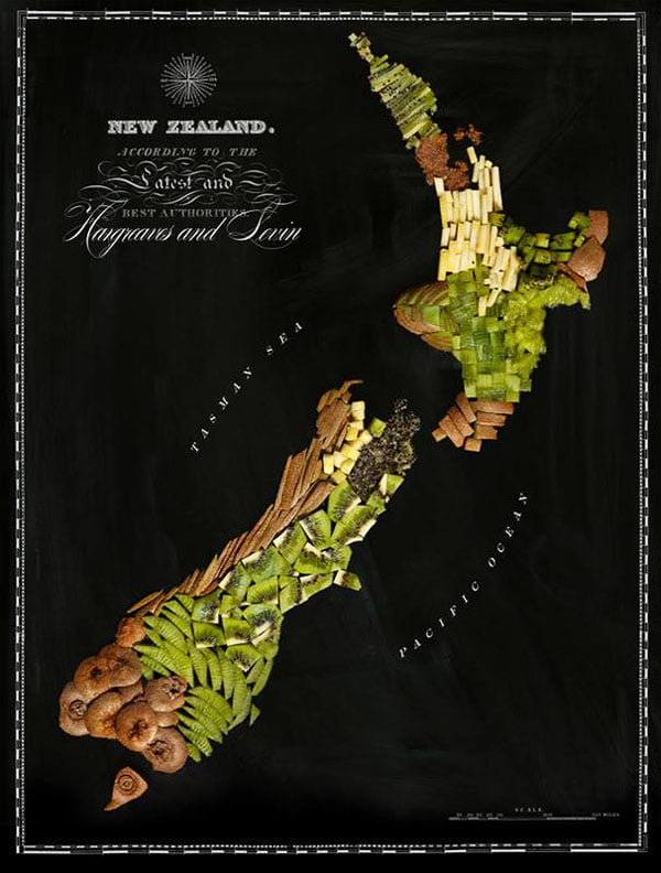 Food Maps by Henry Hargreaves and Caitlin Levin - New Zealand