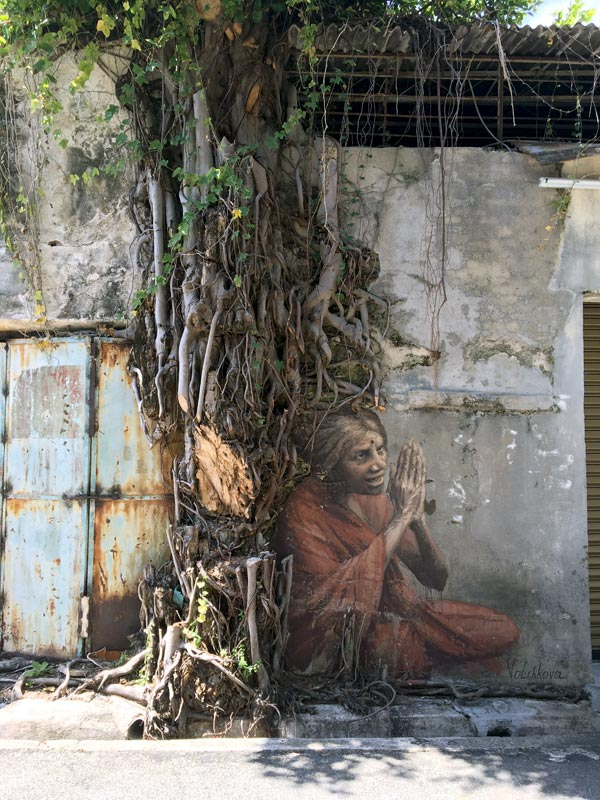 Penang Street Art - Lorong Lumut Old Lady JuliaV