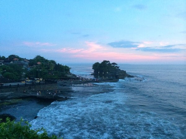 Bali Tanah Lot from Cliff