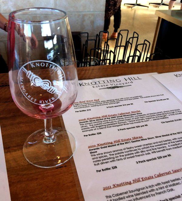 Perth Margaret River Knotting Hill Tasting Notes