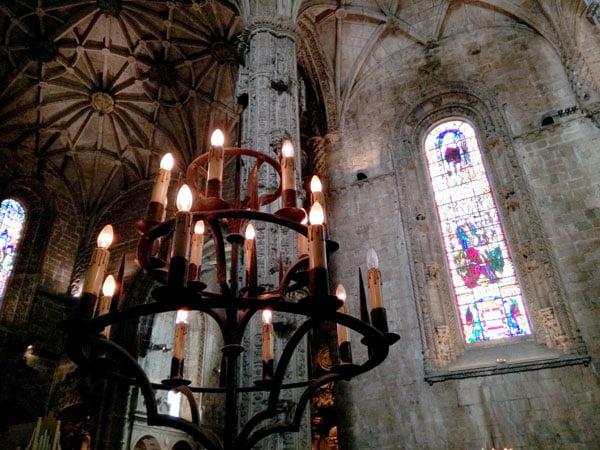 Portugal - Lisbon Belem Monastery Church Chandelier